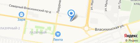 Технокомплект на карте Барнаула