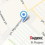 Южный садовод на карте Барнаула