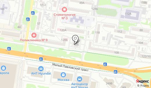 СФЕРА. Схема проезда в Барнауле