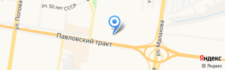 Путь к диплому на карте Барнаула