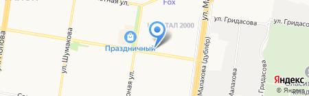 Сатурн на карте Барнаула