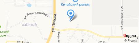 Евроокно на карте Барнаула