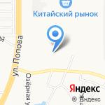 Ремжилстрой на карте Барнаула