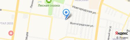 Песнохорки на карте Барнаула