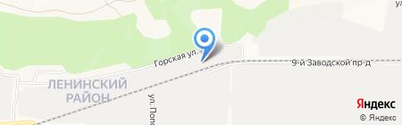 Пласт-Сити на карте Барнаула