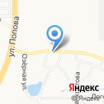 КОЛЕСО на Алексеевой на карте Барнаула