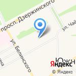 Средняя общеобразовательная школа №76 на карте Барнаула
