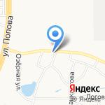 Ямщик на карте Барнаула