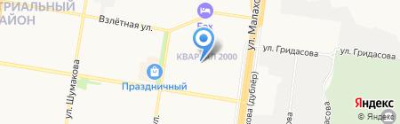 Средняя общеобразовательная школа №132 на карте Барнаула