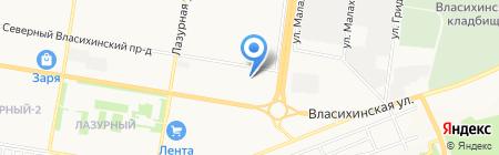 Аква-Люкс на карте Барнаула