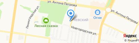 Астра на карте Барнаула