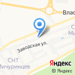 Медвежий угол на карте Барнаула