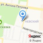 Колибри на карте Барнаула