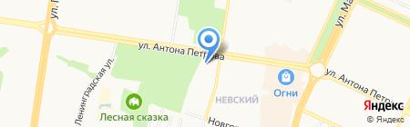 Александро-Невский вестник на карте Барнаула