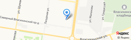 Подземная автостоянка на карте Барнаула