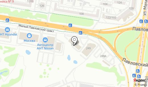 Мерседес-центр. Схема проезда в Барнауле
