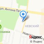 Невские на карте Барнаула