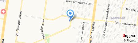 Балкония на карте Барнаула