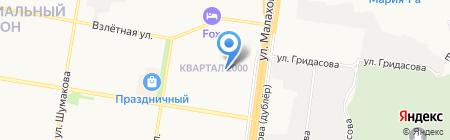 Детская школа искусств №6 на карте Барнаула