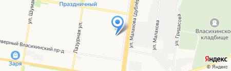 Аполлония на карте Барнаула