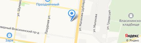АлтайСпецСтрой на карте Барнаула