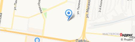 Средняя общеобразовательная школа №88 с кадетскими классами на карте Барнаула