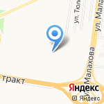 Лицей №112 на карте Барнаула