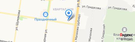АлтайАгроХимия на карте Барнаула