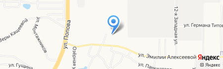 Цех кузовного ремонта на карте Барнаула