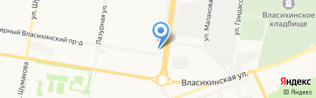 Матрёшка на карте Барнаула