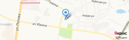 Докучаевский на карте Барнаула