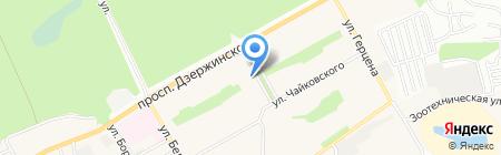 Ульяна на карте Барнаула