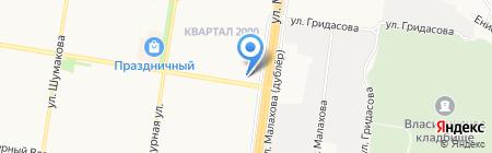Экстренная выездная служба по ремонту стиральных и посудомоечных машин на карте Барнаула