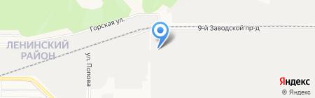 Втормет на карте Барнаула