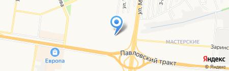 Новая ванна на карте Барнаула