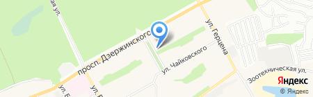 Магазин чулочно-носочных изделий и нижнего белья на карте Барнаула