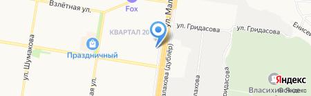 Алтайские зори на карте Барнаула