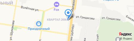 Верный друг на карте Барнаула