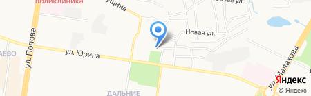 Средняя общеобразовательная школа №126 на карте Барнаула