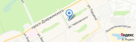 Стоматологическая поликлиника р.п. Южный на карте Барнаула