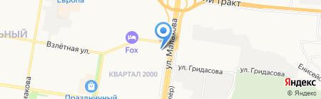 Султан на карте Барнаула
