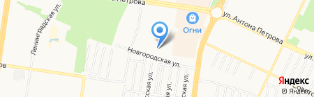 Арт Трафарет на карте Барнаула