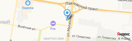 Столплит на карте Барнаула