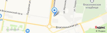 Центр распродаж на карте Барнаула