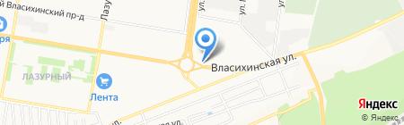 Арт Кедр на карте Барнаула