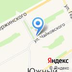 Златовласка на карте Барнаула