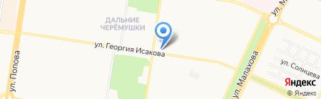 Магазин трикотажной одежды на карте Барнаула