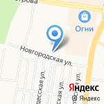 Невский на карте Барнаула
