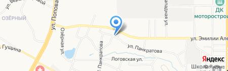 Любить по-русски на карте Барнаула