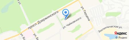 Детская школа искусств №4 на карте Барнаула